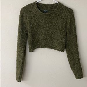 Cropped Moss Green Sweater